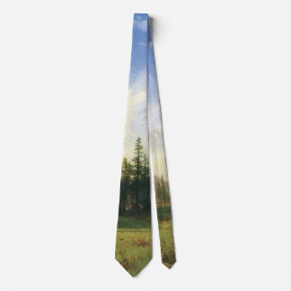 Mountain Landscape by Albert Bierstadt Tie