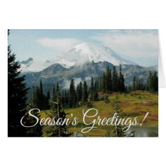 Mountain Landscape Holiday Card