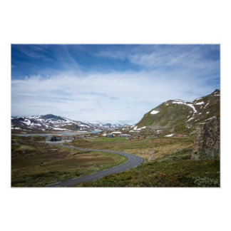 Mountain landscape in Norway photo print