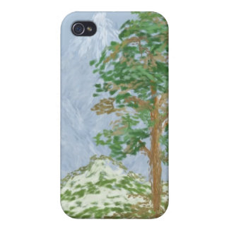 Mountain Landscape Painting iPhone 4/4S Covers