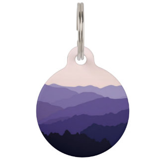 Mountain Landscape Pet ID Tag