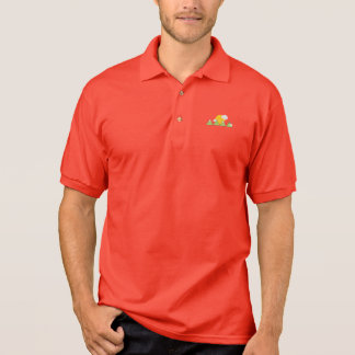 Mountain landscape polo shirt