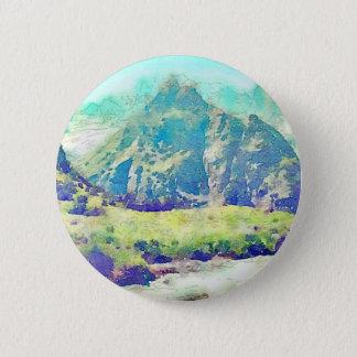 Mountain Landscape Watercolor 2 Inch Round Button