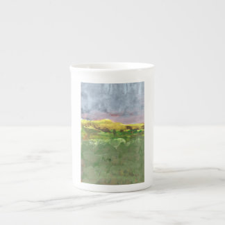Mountain landscape with purple sky #1 mug