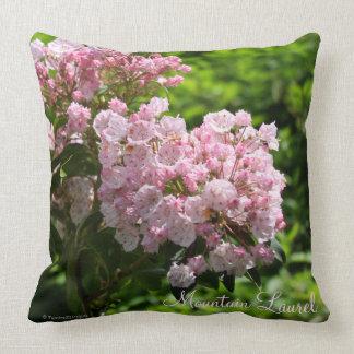 Mountain Laurel Pink White Flowers Pillow