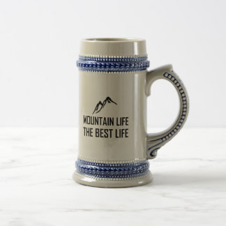 Mountain Life The Best Life Beer Stein