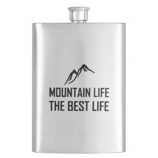 Mountain Life The Best Life Hip Flask
