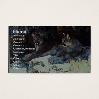 Mountain Lion Business Card