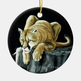 Mountain Lion Ceramic Ornament