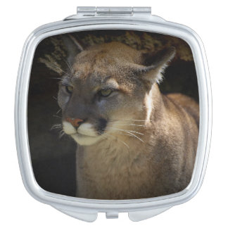 Mountain Lion Cougar Portrait for Big Cat-lovers 3 Travel Mirror