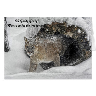 Mountain Lion Holiday Card