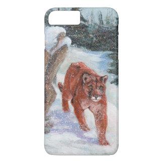 Mountain lion in snow iPhone 7 plus case