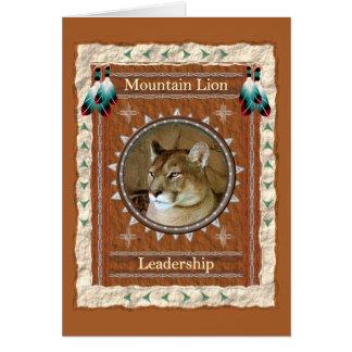 Mountain Lion  -Leadership- Custom Greeting Card