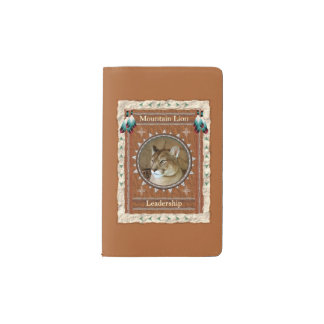 Mountain Lion  -Leadership- Moleskin Cover Pocket Moleskine Notebook