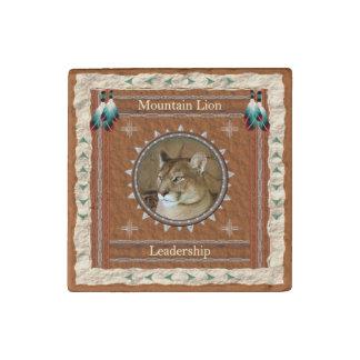 Mountain Lion  -Leadership- Primed Marble Magnet