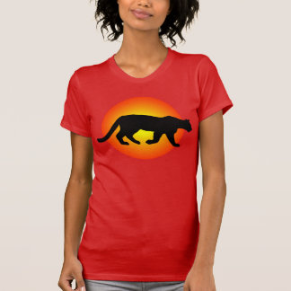 Mountain Lion Puma Cougar Sunfire Silhouette T-Shirt