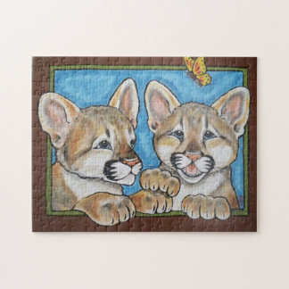 Mountain Lion Puma Cub Cute Jigsaw Puzzle