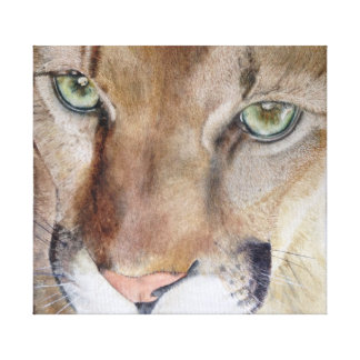 Mountain Lion Wrapped Canvas