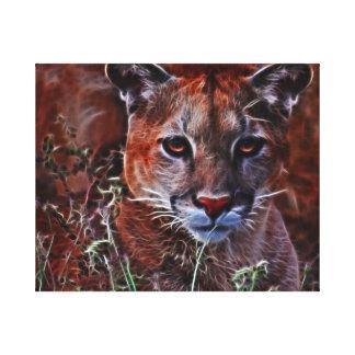 Mountain lions trust canvas print
