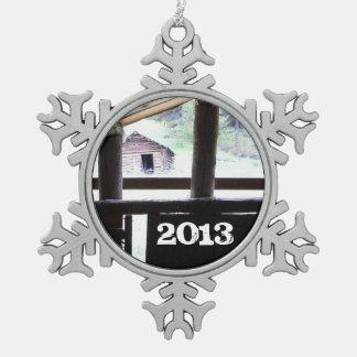Mountain Living • Montana Snowflake Pewter Christmas Ornament