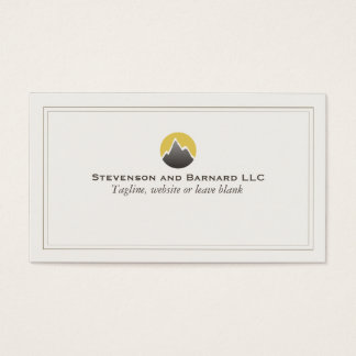 Mountain Logo Business Card