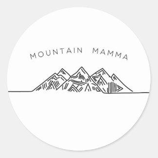 Mountain Mamma Round Sticker