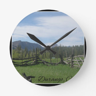 Mountain Meadow Round Clock