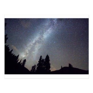 Mountain Milky Way Stary Night View Postcard