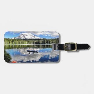 Mountain Mirror Luggage Tag