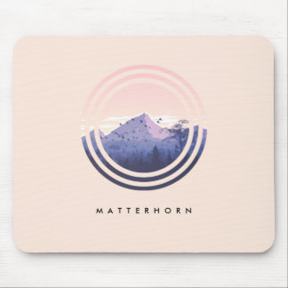 Mountain Mouse Pad (Editable Mountain Name)