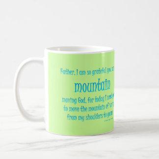 mountain moving god coffee mug