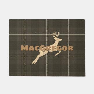 Mountain Pass Plaid with Deer Doormat