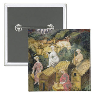 Mountain pastures 2 inch square button