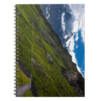 Mountain Path In The Swiss Alps Spiral Note Books