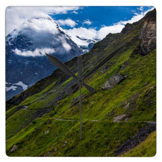 Mountain Path In The Swiss Alps Wallclocks