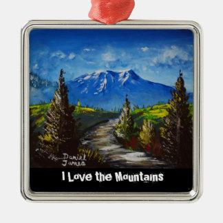 Mountain Path Metal Ornament