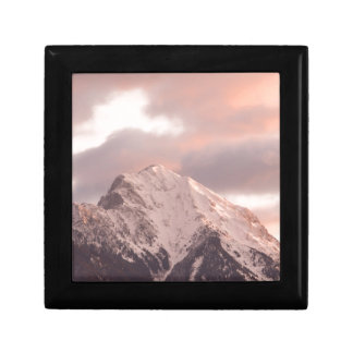 Mountain peak at sunrise gift box