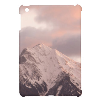 Mountain peak at sunrise iPad mini cases