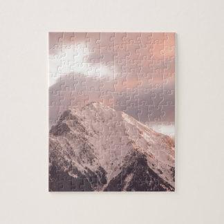Mountain peak at sunrise jigsaw puzzle