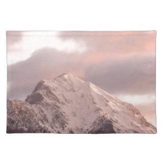 Mountain peak at sunrise placemat