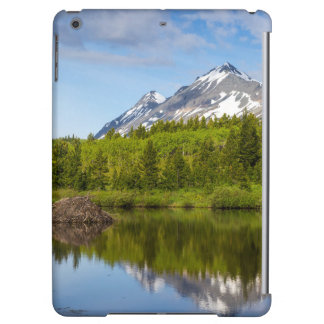 Mountain Peaks Reflect Into A Beaver Pond Cover For iPad Air