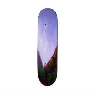 Mountain photo paint custom skateboard