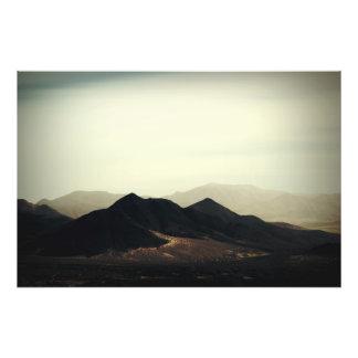 Mountain points photo print