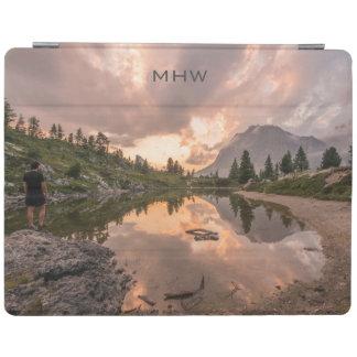 Mountain Pond custom monogram device covers iPad Cover