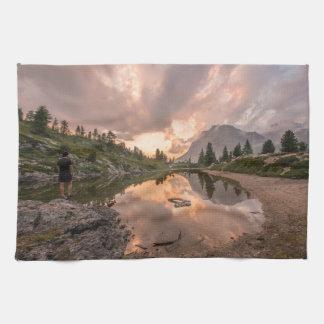 Mountain Pond hand towel