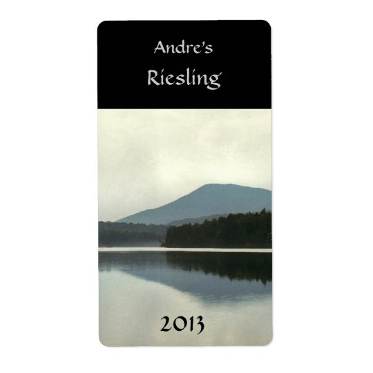 Mountain Pond Wine Label Shipping Label