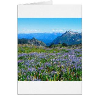 Mountain Purple Heather Haze Greeting Card