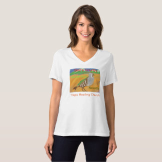 Mountain Quail Bird Nevada Womens V-Neck T-Shirt