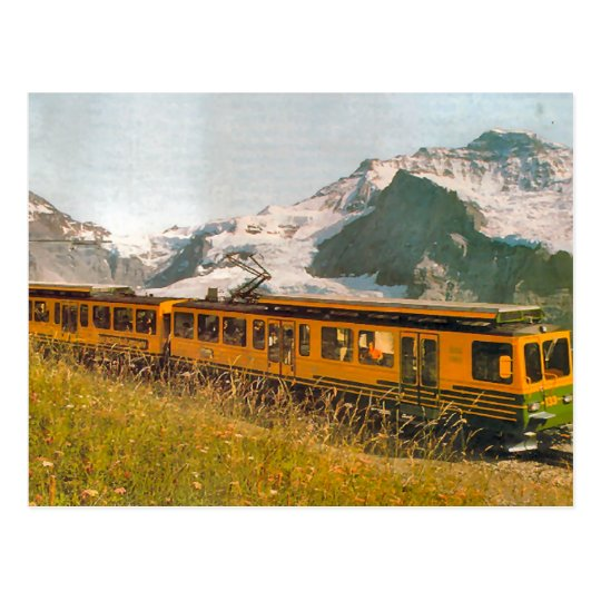 Mountain railway, Jungfrau region Postcard