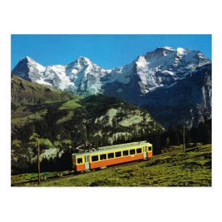 Mountain Raimway, Lauterbrunnen, Bernese Oberland, Postcard